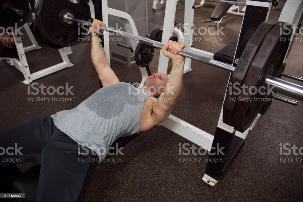 Bench Exercises stock photo