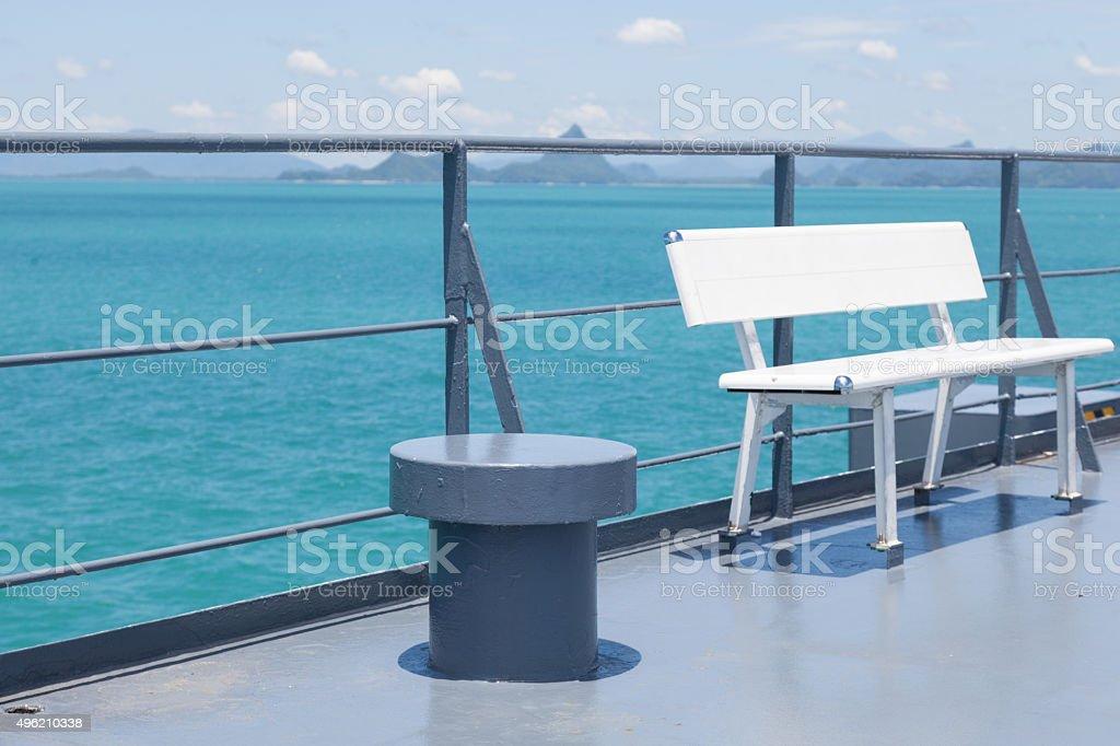 Bench forecastle stock photo