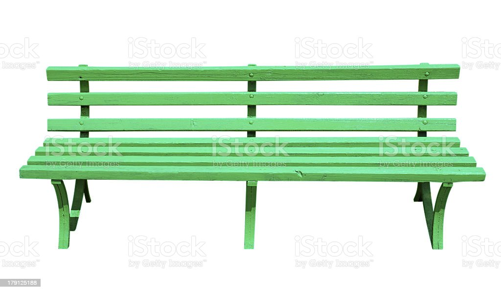 Bench green royalty-free stock photo