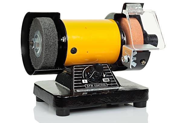 bench schleifmaschine - dremel zubehör stock-fotos und bilder