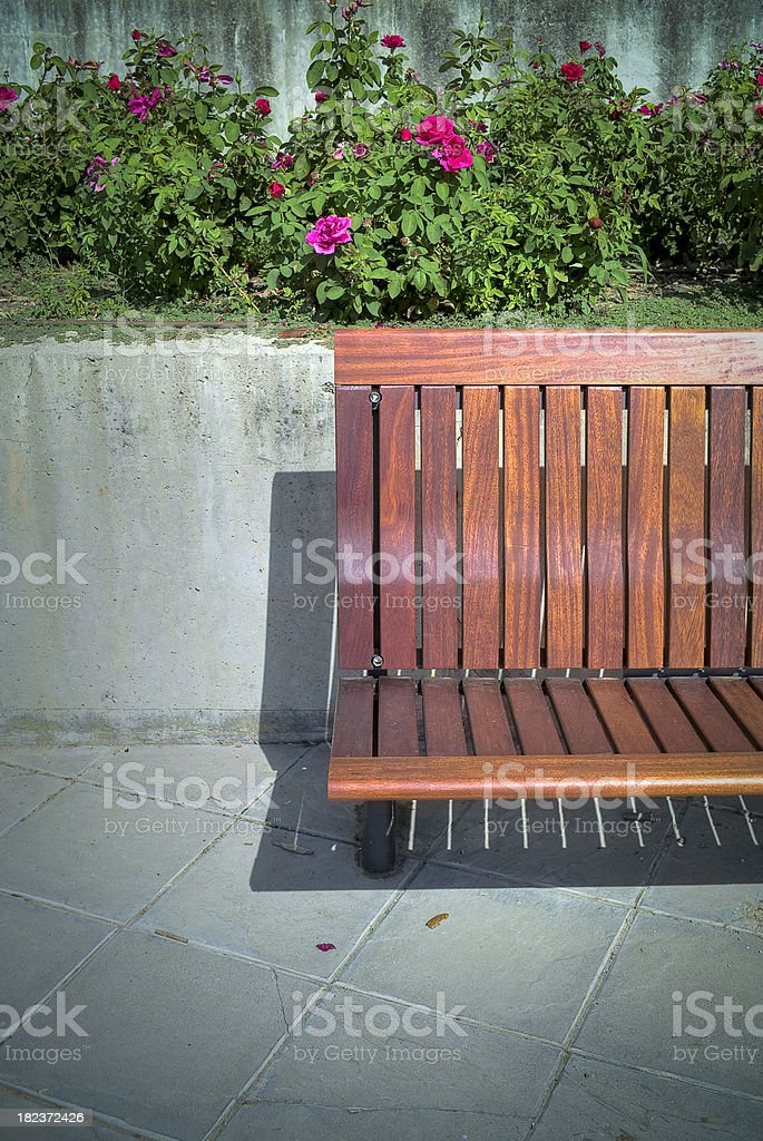 Bench in a park. Series royalty-free stock photo