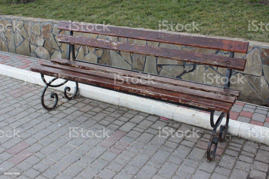 벤치 도시 공원 - 로열티 프리 12월 스톡 사진