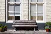 Bench in front of a house, Midddelburg, Netherlands.