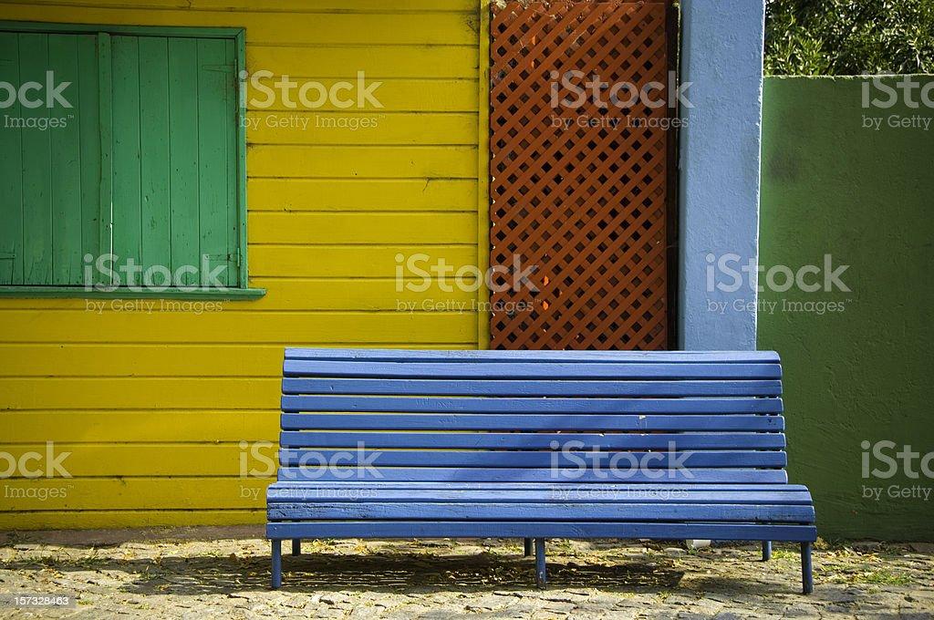 Bench in La Boca royalty-free stock photo
