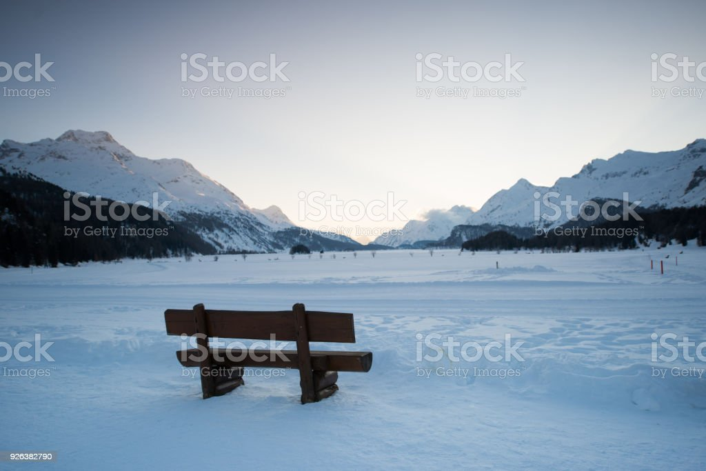 Bank in Sils Maria Engadin – Foto