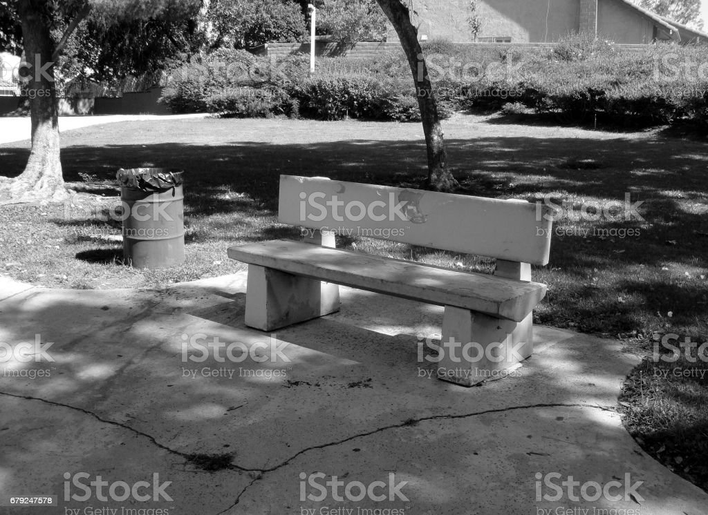 A Bench in the Neighborhood stock photo