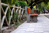 park bench along the path