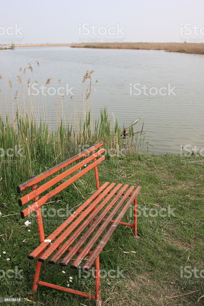 Bench in the valley royalty-free stock photo