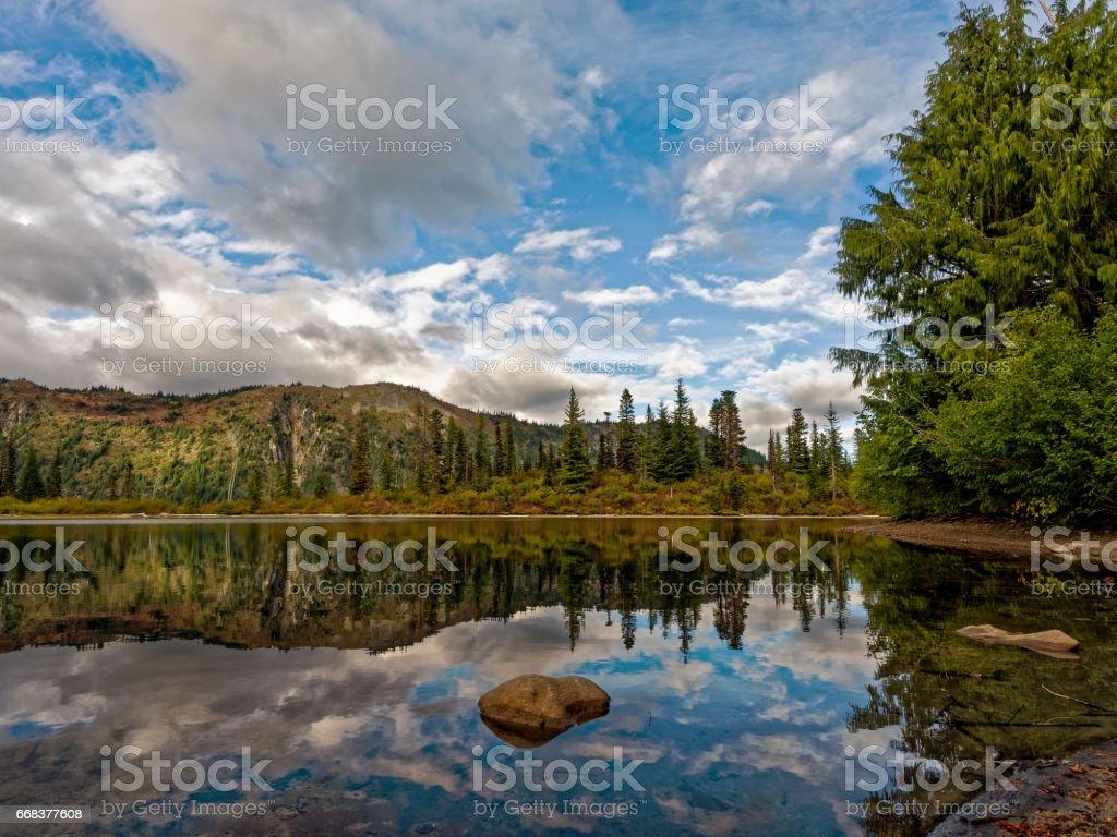 Bench Lake, Mt. Rainier National Park stock photo