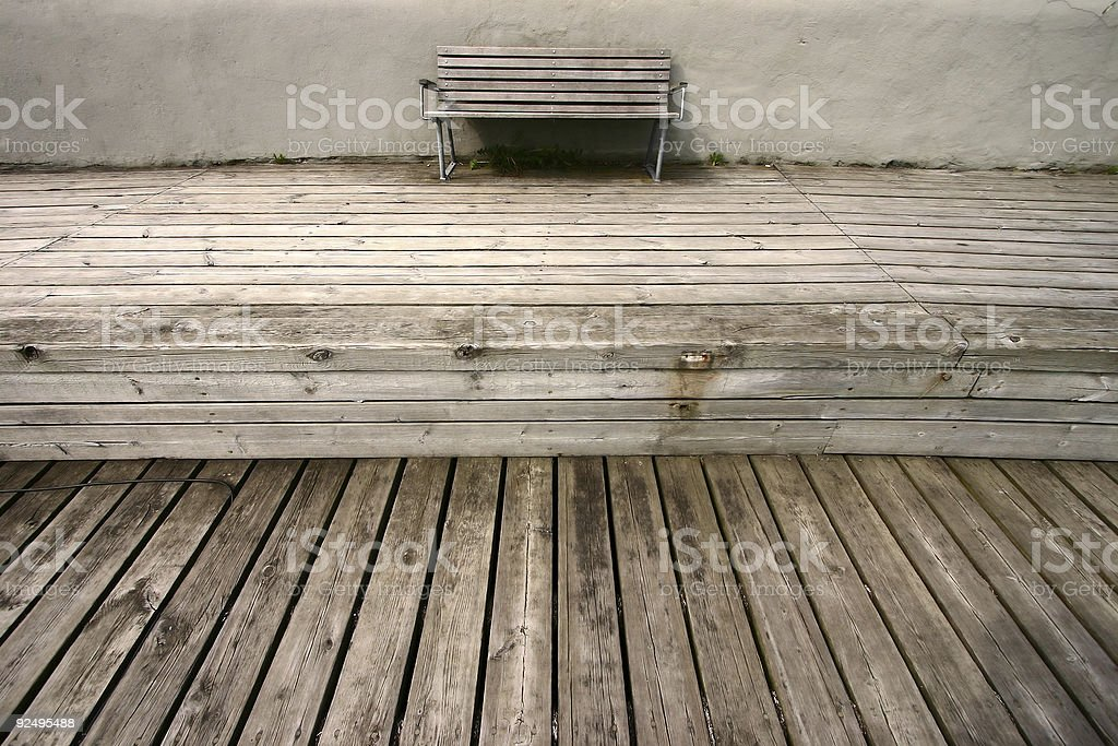 bench lines royalty-free stock photo