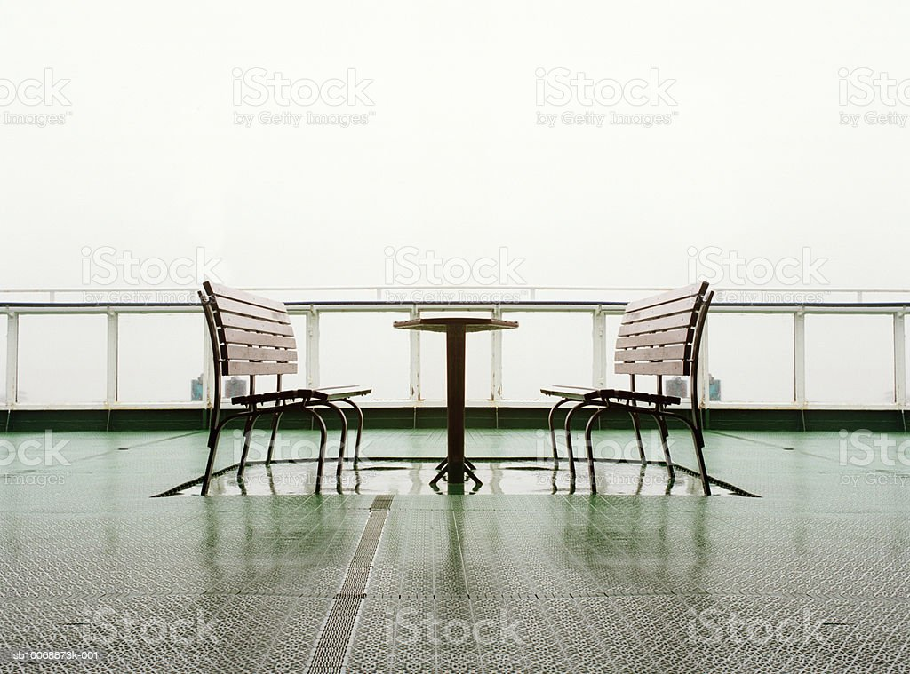 Bench on fairy boat royalty free stockfoto