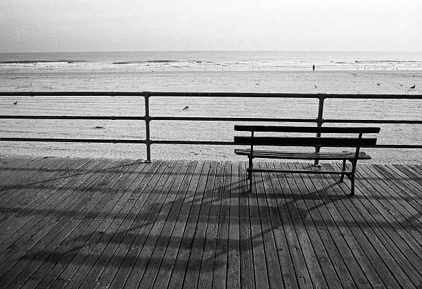 Bench on the Boardwalk At Beach, Atlantic City