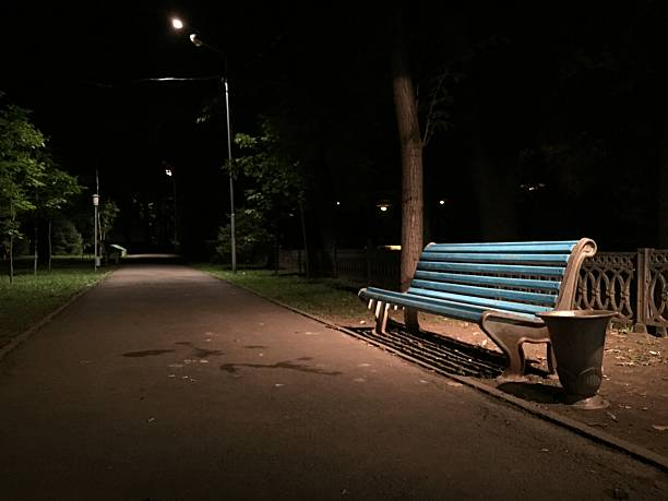 Royalty Free Park Bench At Night Pictures Images And Stock Photos