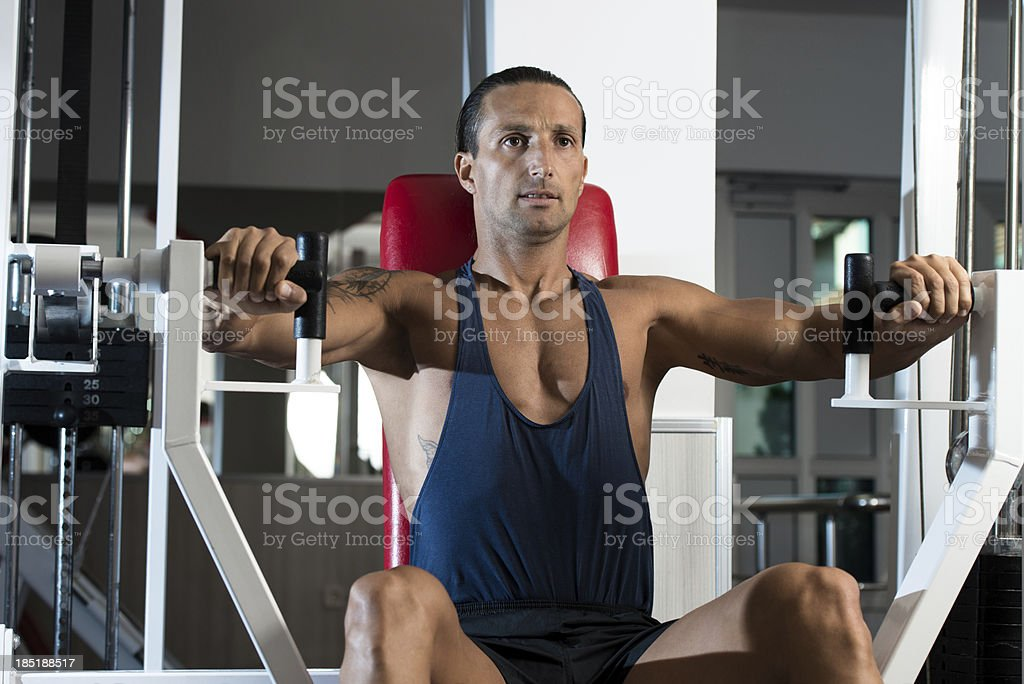 Bench Press Exercise Machine royalty-free stock photo