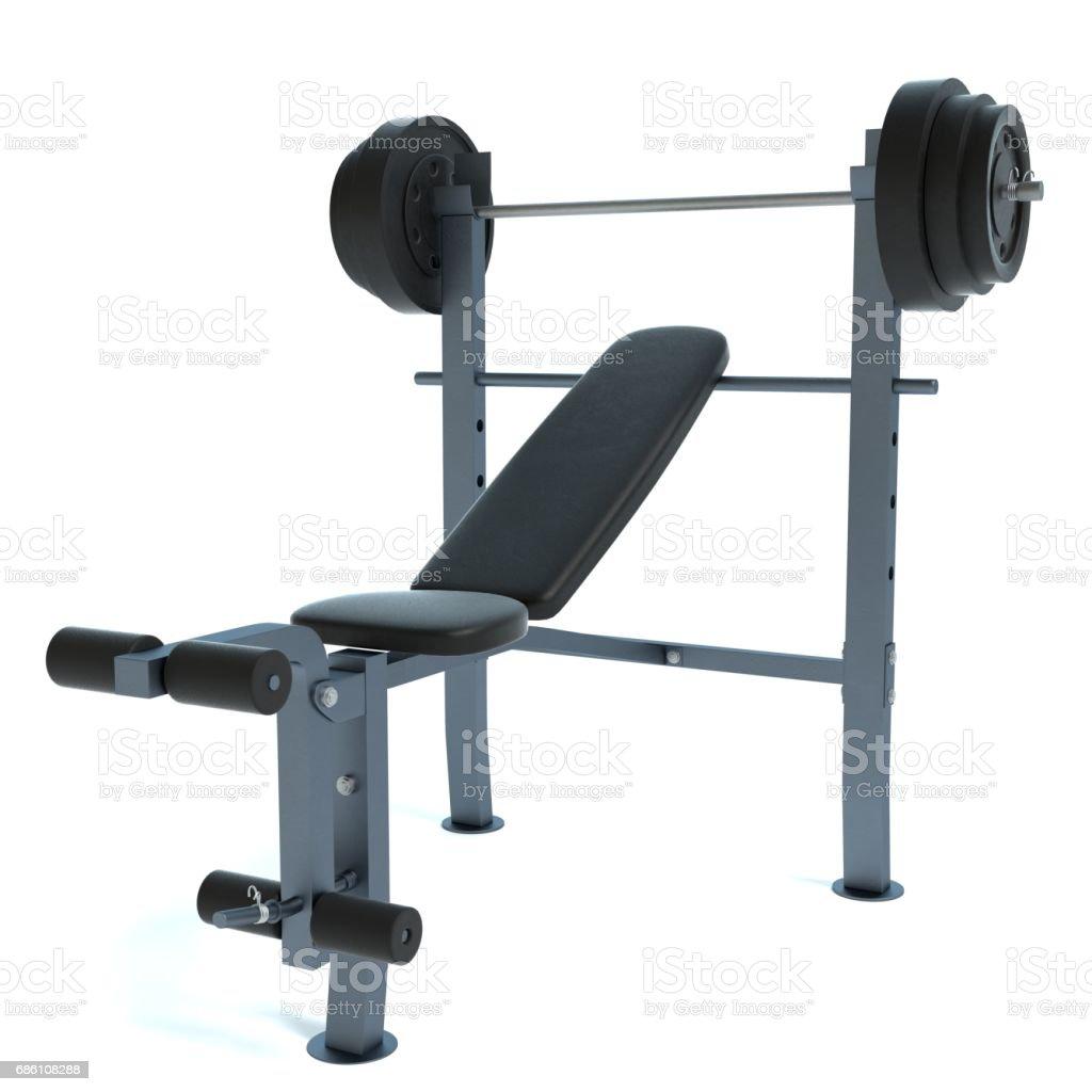 Bench Press Machine stock photo