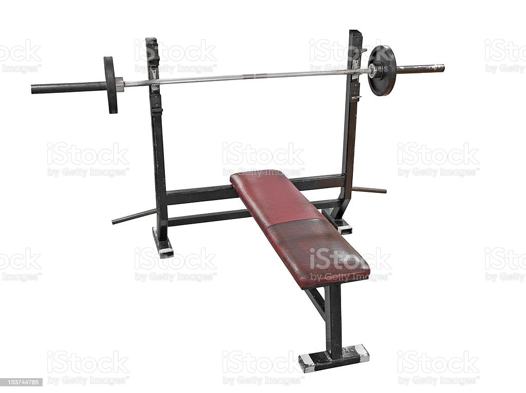 Bench press royalty-free stock photo