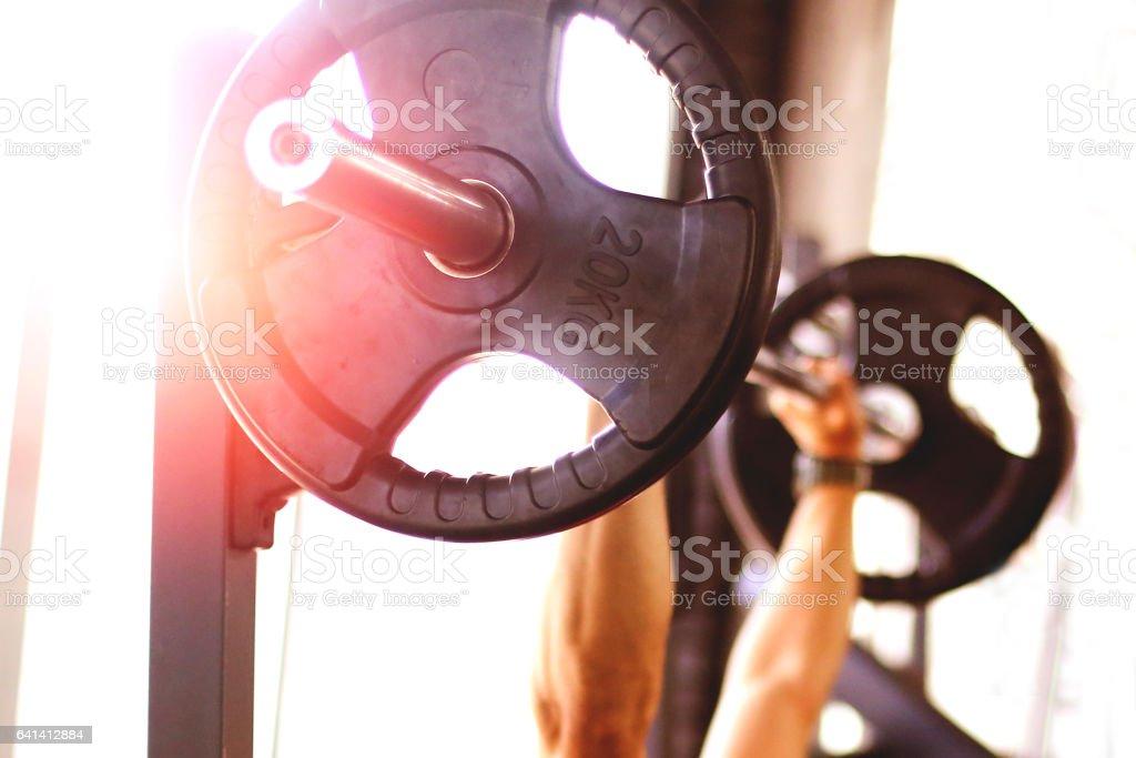 Bench press stock photo