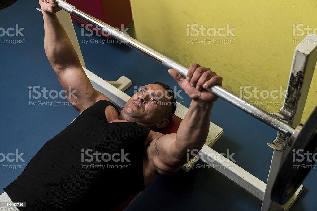 Bench Press Workout royalty-free stock photo