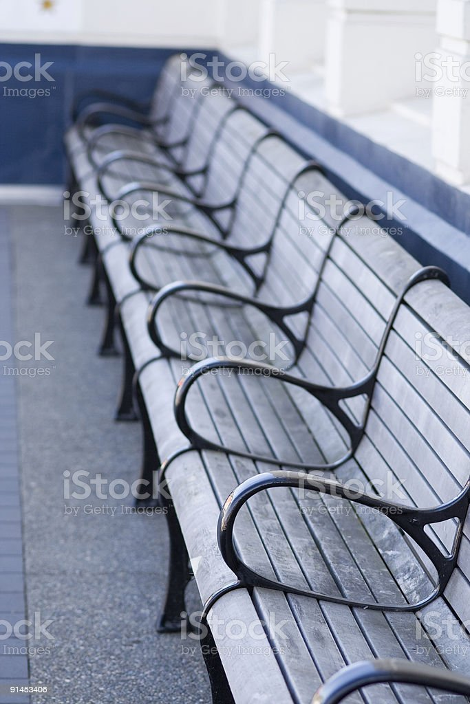 Bench seating royalty-free stock photo