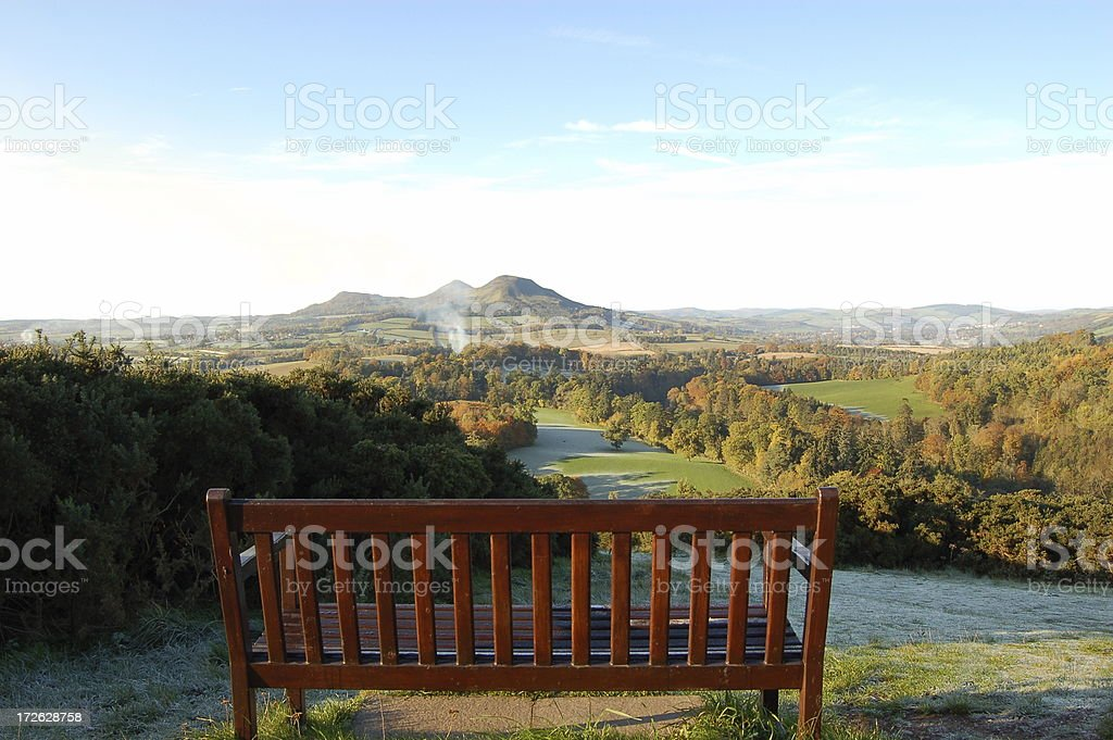 Bench view 2. stock photo
