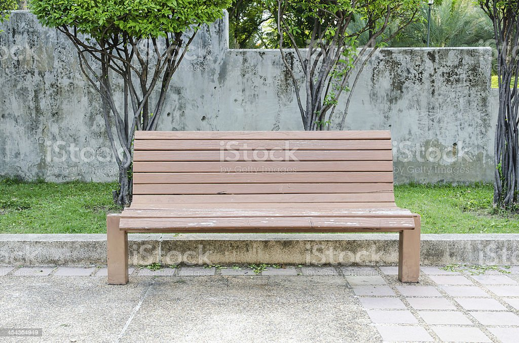 Bench wood stock photo