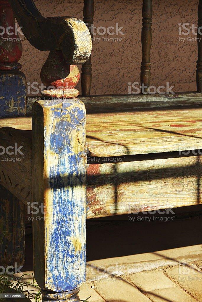 Bench Wood Worn Furniture royalty-free stock photo