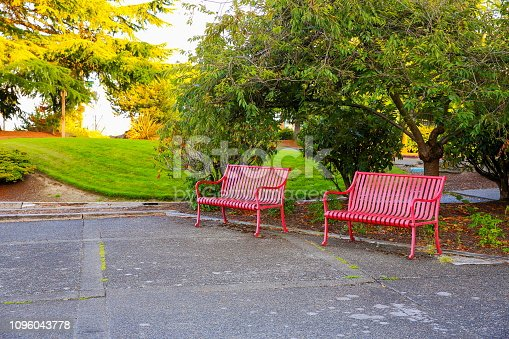 Benches in the public park