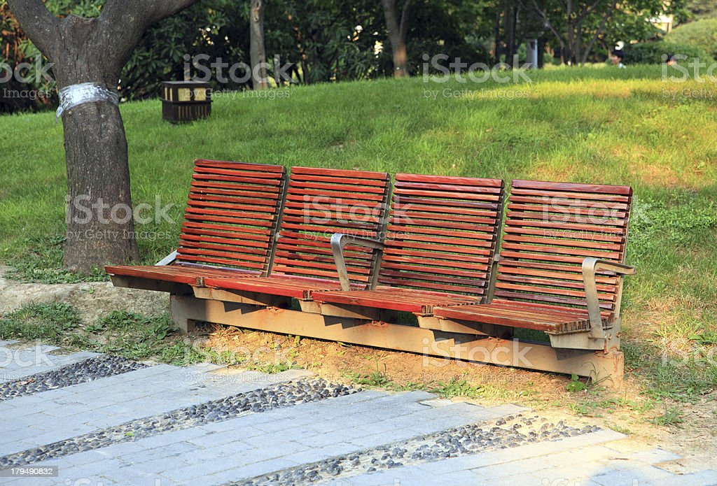 benches on a park royalty-free stock photo