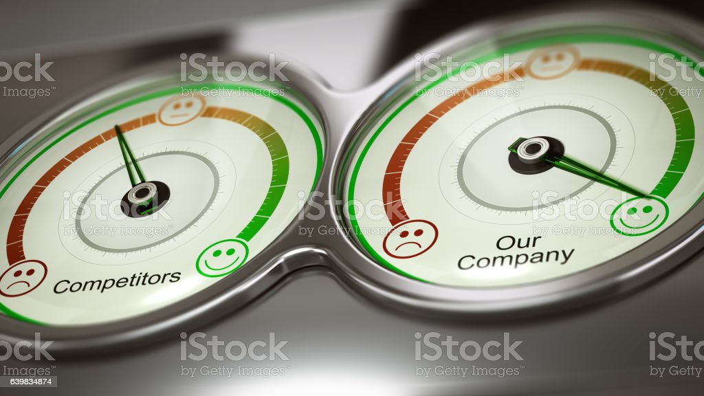 Benchmark or Comparative Advertising stock photo