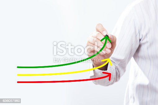 istock Benchmarking and market leader concept. Manager (businessman, co 636057980