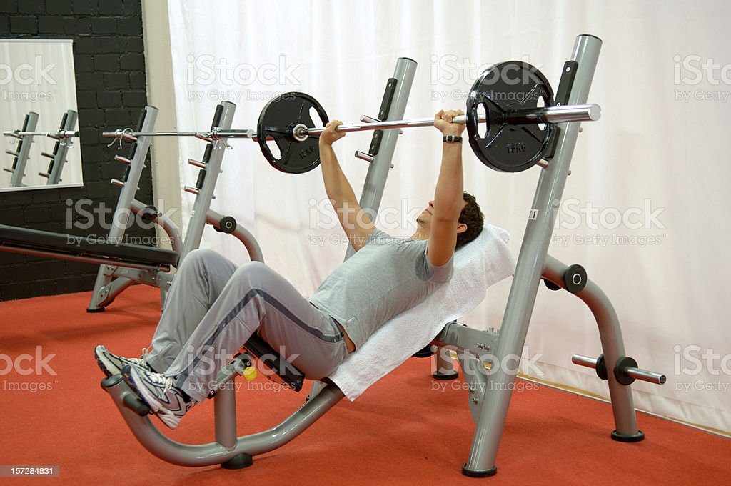Bench-pressing royalty-free stock photo