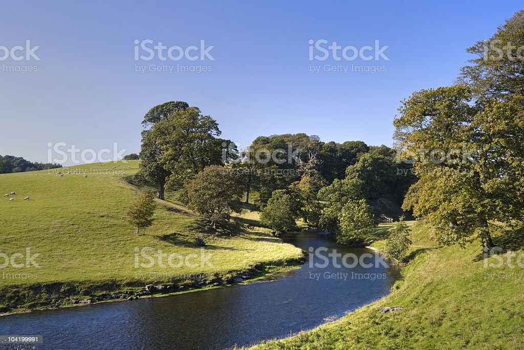 Bend in the River Bela royalty-free stock photo