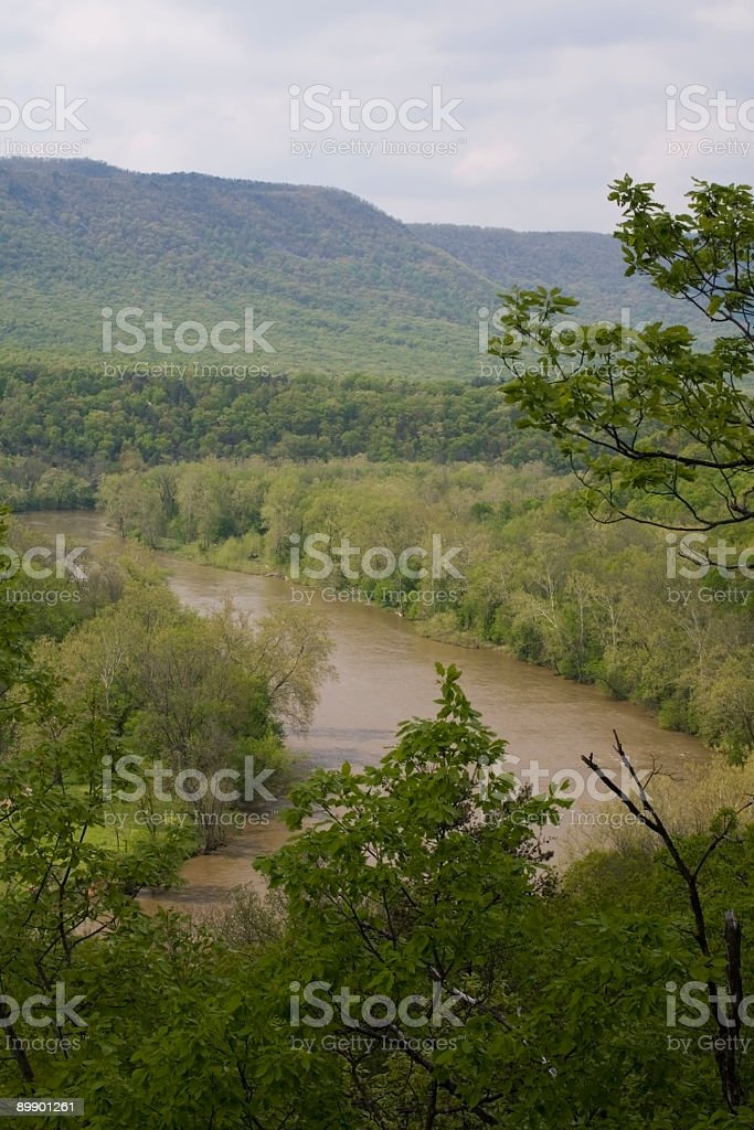 Bend in the River royalty-free stock photo