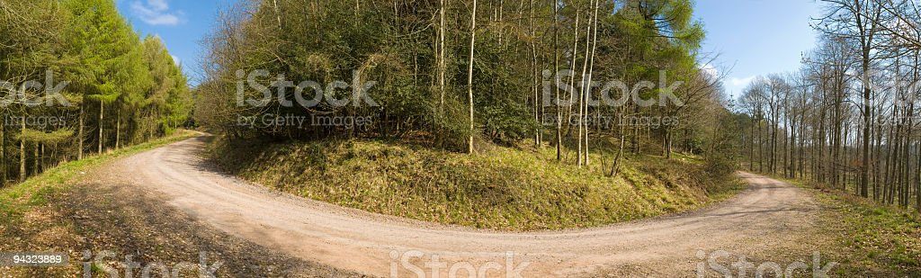 Bend in the road royalty-free stock photo