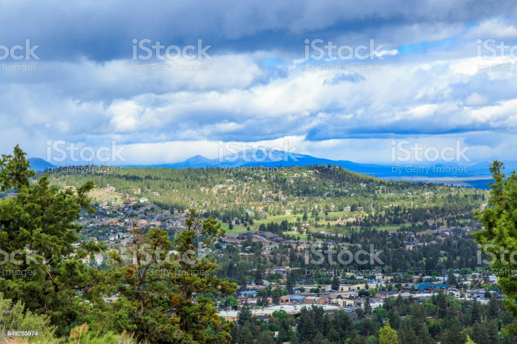 Bend, View from Pilot Butte State Park stock photo