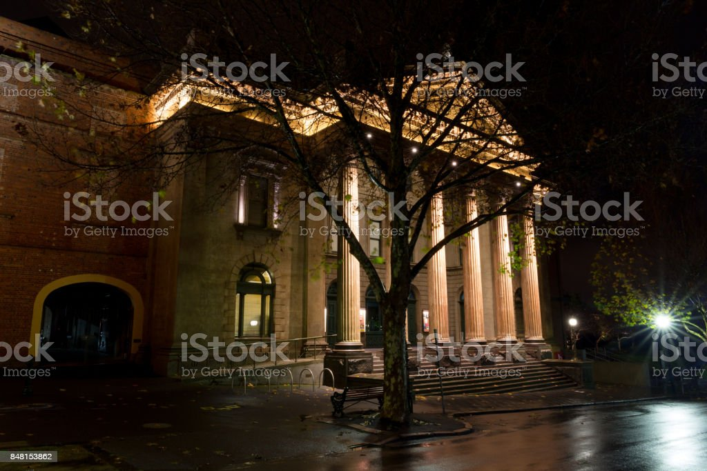 Bendigo Capital Theatre at night stock photo