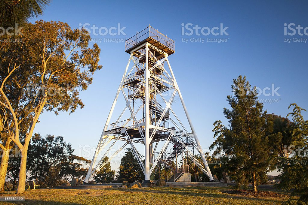 Bendigo Lookout Tower stock photo