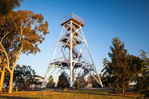 Bendigo Lookout Tower stock photo
