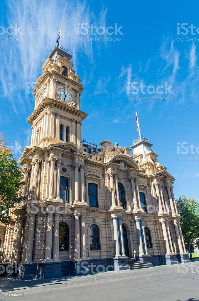 Bendigo Town Hall in Australia stock photo