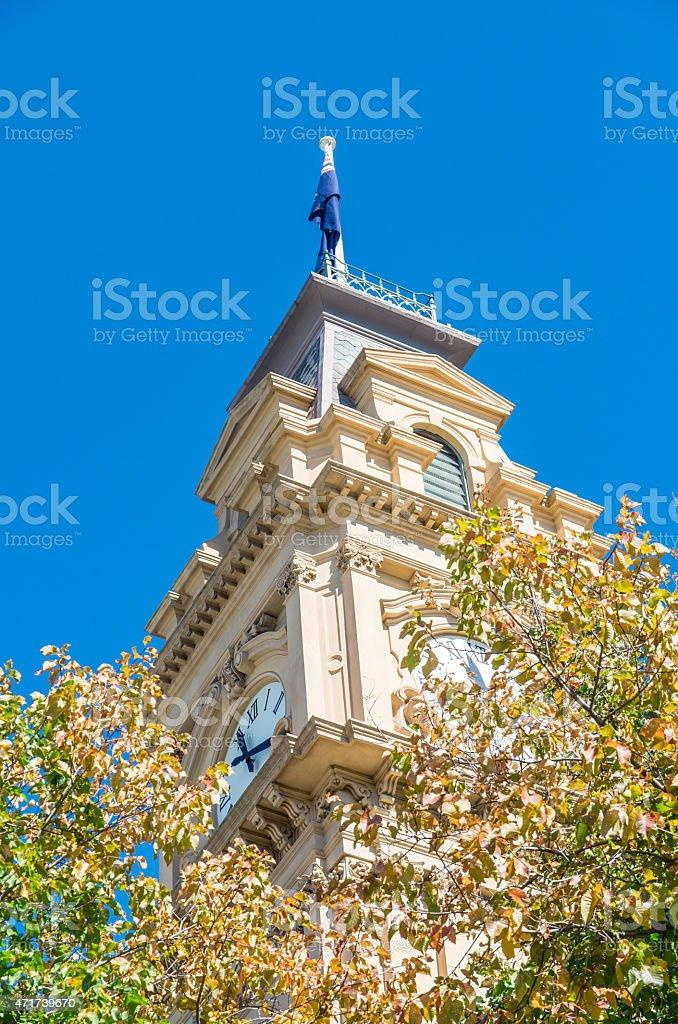 Bendigo Town Hall in Australia stock photo