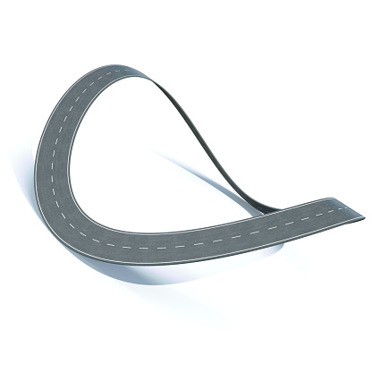istock Bending loop highway on a white background. 3d illustration 532406758