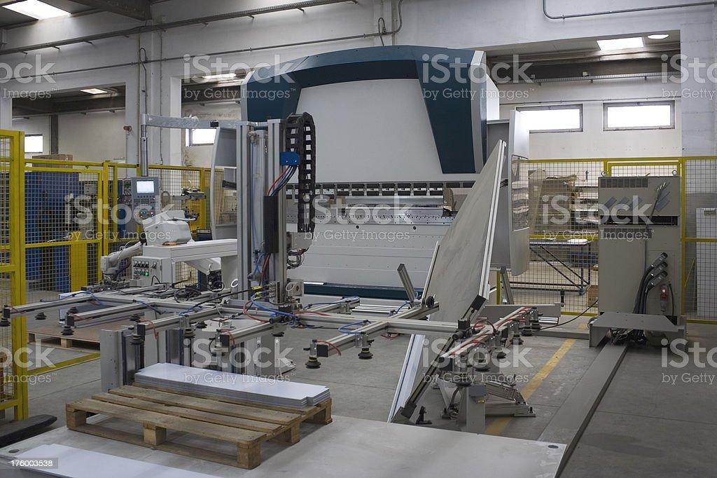 Bending machine royalty-free stock photo