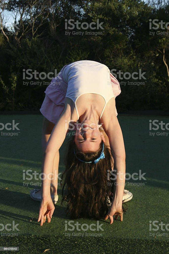 Bending over backwards royalty-free stock photo