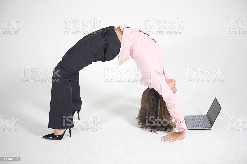 Bending Over Backwards XXL stock photo