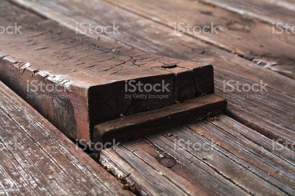 Bending Plank royalty-free stock photo