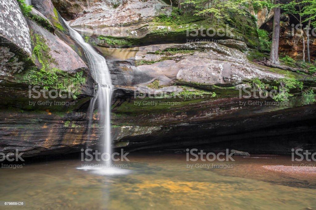 Beneath Cedar Fall stock photo