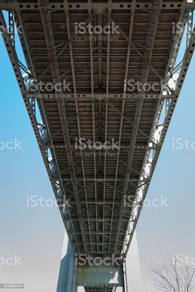 Beneath the Verrazano-Narrows Bridge stock photo