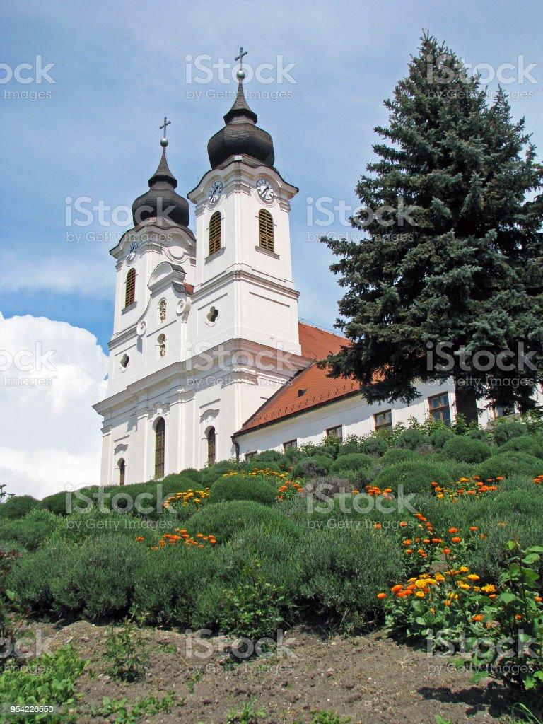Benedictine abbey in Tihany stock photo