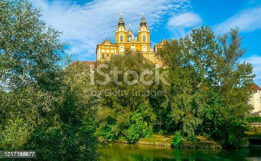Melk, Lower Austria / Austria - August 2011: Benedictine Abbey of Melk