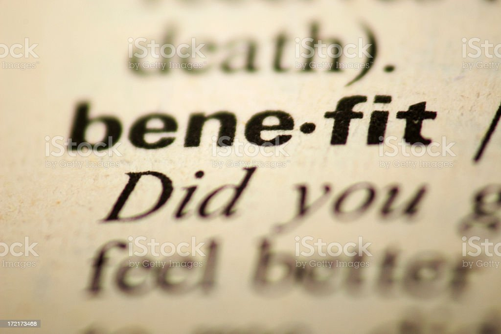 Benefit royalty-free stock photo